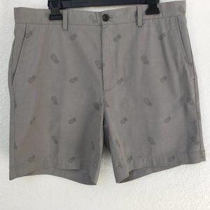 Essentials Men's Flat Front Pineapple Shorts NWOT
